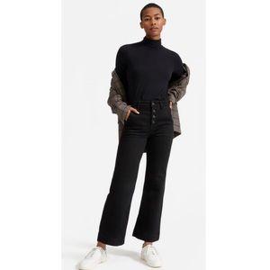 NWT Everlane Wide Leg Jeans Black 27